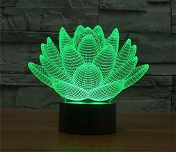 Elstey Blooming Lotus 3D Model Visual Optical Illusion 7 Col