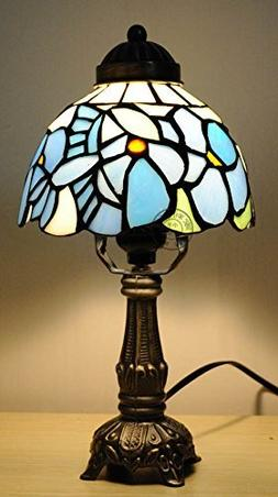5-Inch Blue Tiffany Table Lamp Children'S Room Bedside Bedro