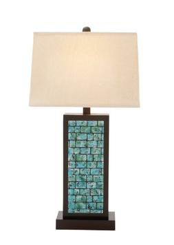 Plutus Brands The Blue Wood Table Lamp