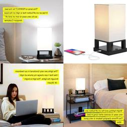 Brightech Maxwell LED USB, For Side Table & Desk Lamp, Bedro