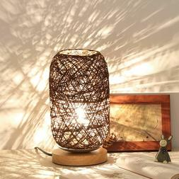 Button Type Switch Wicker Table Lampshade Japan Stylish Thro