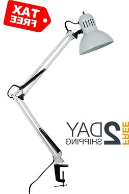 Catalina Lighting Maddox 37.4-Inch Swing Arm with Metal Clam