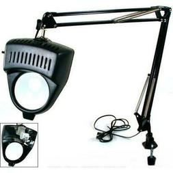 Clamp on Swing Arm Lighted Magnifying Lamp Hobby Work Desk T