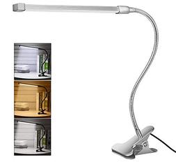 10W LED Clip on Light, Desk Lamps with 3 Modes & 2M USB Cabl