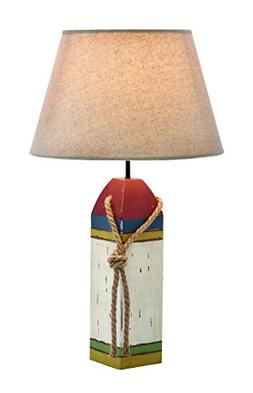 Woodland Imports Coastal Wooden Buoy Table Lamp with Empire