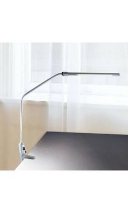 Lavish Home Contemporary Clamp LED Desk Lamp, Silver
