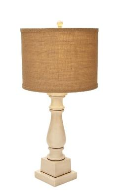 Plutus Brands Contemporary Table Lamp with Mix of White and