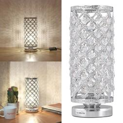 Crystal Table Lamp Bedside Nightstand Desk Reading Lamp Bedr