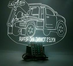 Custom Recovery Tow Truck Light Up Lamp LED With Remote Pers
