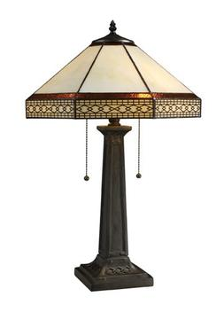 Dimond D1858 Stone Filigree 2 Light Table Lamp in with Tiffa