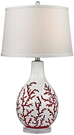 Dimond Lighting D2479 Sixpenny Ceramic Table Lamp, Red