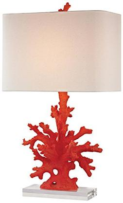"""Dimond Lighting D2493-LED Coral Table Lamp, 16"""" x 16"""" x 28"""","""