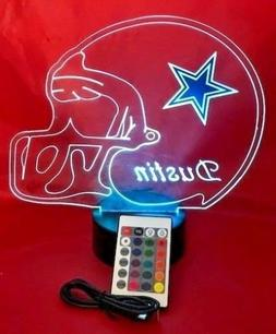 Dallas Cowboys NFL Light Up Lamp LED Personalized Free Footb