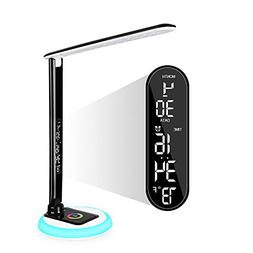 Donewin LED Desk Lamp,LCD Screen with Date,Time,Alarm,Temper