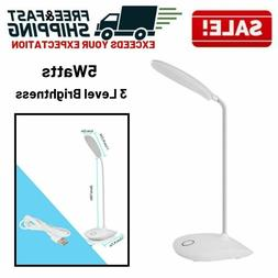 Desk Lamp Reading Light LED Small Flexible Neck Dimmable Adj