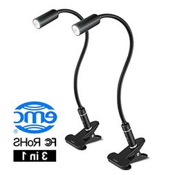 Desk Lamp LED Reading Light, Aglaia 4W Eye-Caring Clip-on Bo