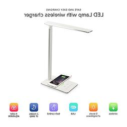LED Desk Lamp with QI Wireless Charger Pad YTech- QI Wireles