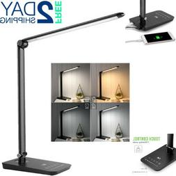 Desk Lamp With Usb Power Outlet Dimmable Light Touch Control