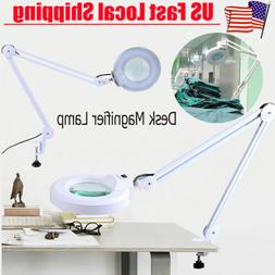 5X Desk Table Clamp Mount Magnifier Lamp Light Magnifying Gl