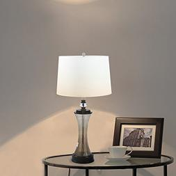 Desk Table Lamp for Bedroom - HAITRAL Modern Bedside Night L