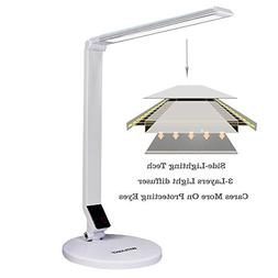 WITLIGHT Dimmable LED Desk Lamp, Touch activated Table Light