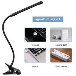 Dimmable LED 360°Rotate Gooseneck Clip Desk Work Read Lamp
