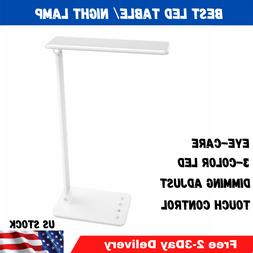Dimmable LED Desk Lamp Touch Control Eye-Caring Working Read