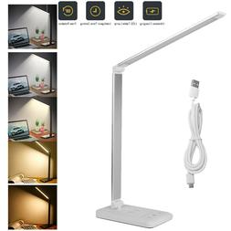 Dimmable LED Desk Lamp Touch Tactile with USB Charging Port