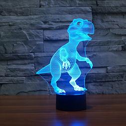Dinosaur 3D Illusion LED Night Lamp Desk Lamp 3D Optical Ill