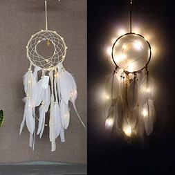 XEDUO Dreamcatcher with Lighting, Christmas Handmade Dream C