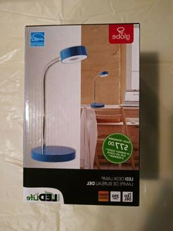 Globe Electric Co. LED Desk Lamp. Blue. Brand New in the Box