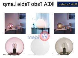 IKEA FADO Table Lamp with LED Bulb Gray Pink or White