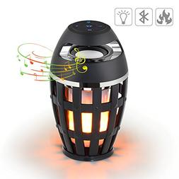 Led Flame Lamp Speaker,2 in 1 Portable Wireless Stereo Blu