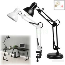Flexible Arm Desk Lamp E27 Office Bedroom Work Home Study Ta