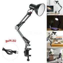 Flexible Table LED Lamp Swing Arm Mount Clamp Lamp Home Stud