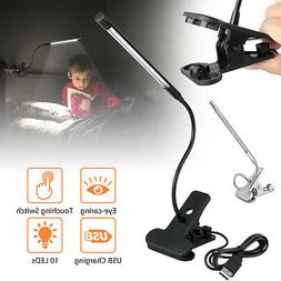 Flexible USB Clip-on Table Lamp LED Clamp Reading Study Bed