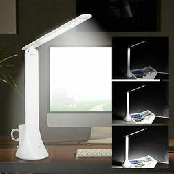 Foldable Rechargeable Touch 18LED Desk Lamp Table 3-level Di