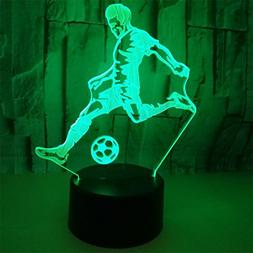 RUIYI Football Player 3D Visual Lamp Table Illusion Lamps,7