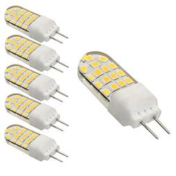 Bqhy 5-pack 3W 110V G6.35 Bi-Pin JC Type 20W Equivalent T3/T