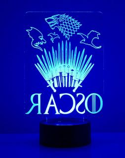Game Of Thrones Personalized Night Light Multi-Color Change