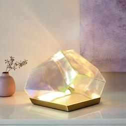 Glamorous Glass Gem LED Table Lamp for Desk, Nightstand, and