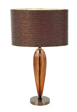Plutus Brands Glass Metal Table Lamp with Round Base with Gl