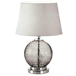 Gorgeous Lamp Table Glass Grey Cracked BESTChoiceForYou