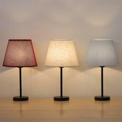 HAITRAL Bedside Desk Lamp with 3 Colors Lamp Shade Mini Nigh