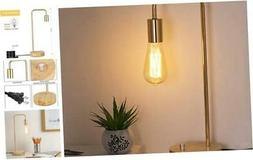 HAITRAL Industrial Desk Lamp - Stylish Wooden Table Lamp wit