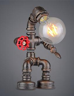 HJL- Vintage Retro Robot Pipe Table Lamp Table light One lig