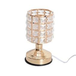 3 Stage Touch Dimmer Goldtone Glass Shape Table Desk Lamp Bu