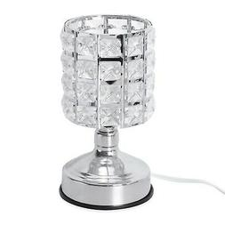 Home Decor 3 Stage Touch Dimmer Glass Shape Desk Table Lamp