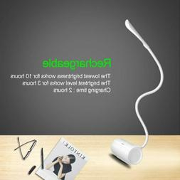 ICOCO LED Dimmable Rechargeable Lamp Gooseneck Cordless Port