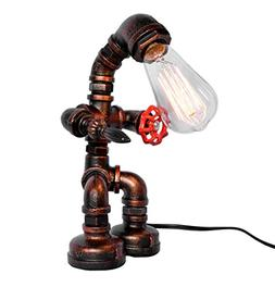 OYI Industrial Retro Style Rust Iron Robot Plumbing Pipe Des